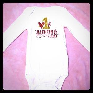Valentines baby girl onesie 6-12 months